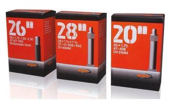 """CST 070102 Fahrradschlauch, Schwarz, 12 1/2 x 2 1/4"""" 47/62-203 DV 32 mm"""