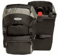 Norco Gepäckträgertasche Nevada Paar schwarz/silber