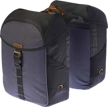Basil Miles Double Bag black slate