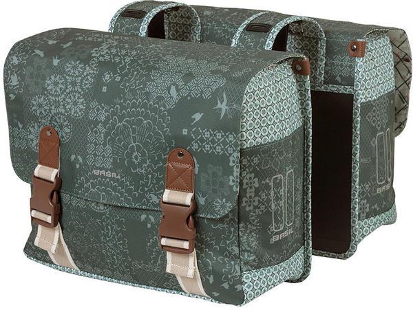 Basil Bohème Double Bag (forest green)