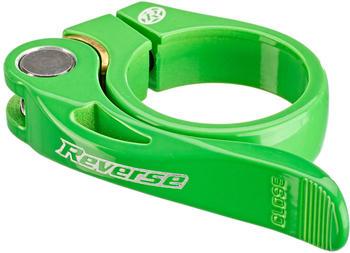 Reverse Long Life Sattelklemme 34,9mm neon grün