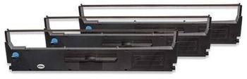 vhbw 3x Farbband Nylonband Tintenband für Nadeldrucker Epson LX 810, LX 850, LX-300, LX-300+, LX-300+II, LX-350 wie C13S015647