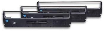 vhbw 3x Tintenband für Nadeldrucker Epson LQ-200, LQ-300, LQ-350, LQ200, LQ300, LQ350 wie C13S015633