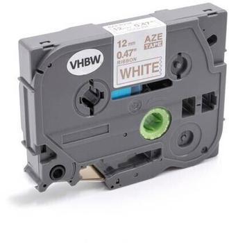 vhbw Textilband 12mm gold auf weiß passend für Etiketten-Drucker Brother P-Touch 2200, 2210, 2300, 2310, 2400, 2400E