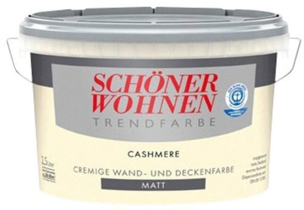 Schoner Wohnen Trendfarbe Matt 2 5 L Cashmere Test Angebote Ab