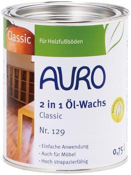 Auro 2 in 1 Öl-Wachs Classic 0,75 Liter (Nr. 129)