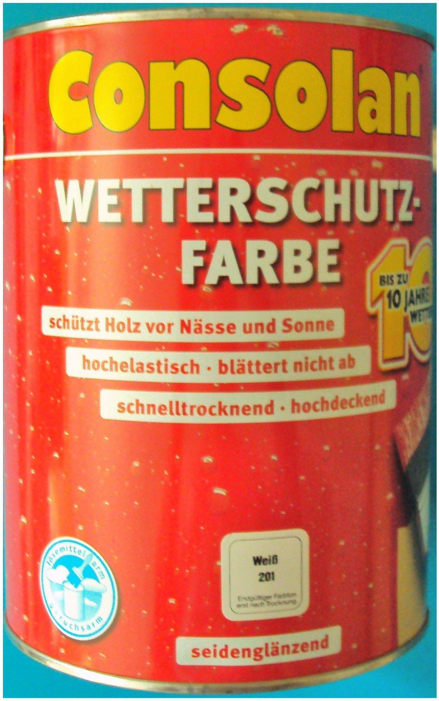 consolan wetterschutz-farbe 2,5 l weiß test | consolan farben