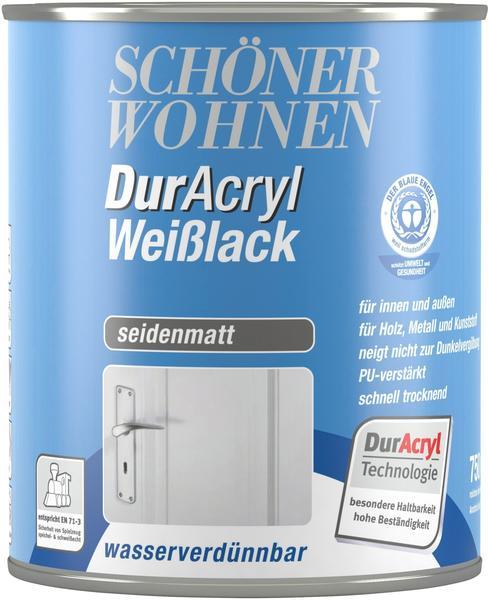 Schöner Wohnen DurAcryl Weißlack seidenmatt 750 ml