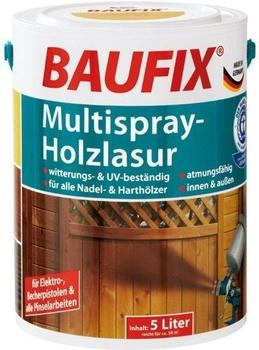 Baufix Multispray-Holzlasur 5 l nussbaum