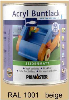 PRIMASTER Acryl Buntlack beige seidenmatt 750 ml