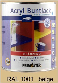PRIMASTER Acryl Buntlack beige glänzend 750 ml