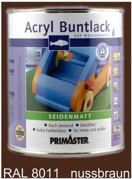 PRIMASTER Acryl Buntlack nussbraun seidenmatt 750 ml