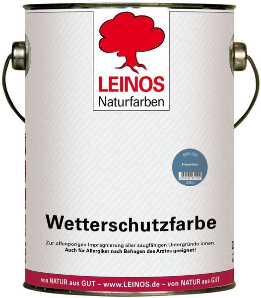 Leinos Wetterschutzfarbe 2,5 l Friesenblau 850-123