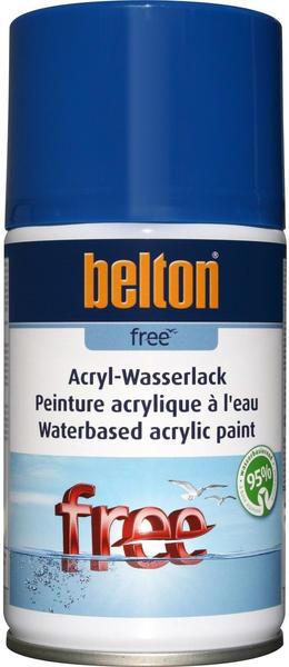 belton Free Acryl-Wasserlack Enzianblau hochglänzend 250 ml
