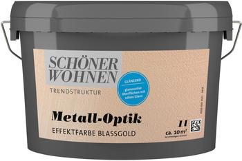 Schöner Wohnen Effektfarbe Metall-optik glänzend 10 l blassgold