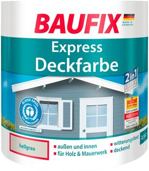 Baufix Express-Deckfarbe 2,5 l hellgrau