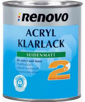 Renovo Acryl Klarlack seidenmatt 2 in 1 farblos 375 ml