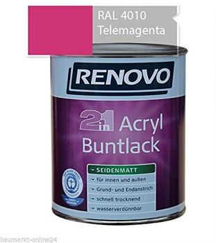 Renovo Acryl Buntlack Glanzlack 2 in 1 cremeweiss 125 ml