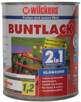 Wilckens Buntlack 2in1 glänzend 750 ml tiefschwarz