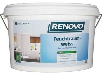 Renovo Feuchtraumfarbe weiß matt 5 l weiß