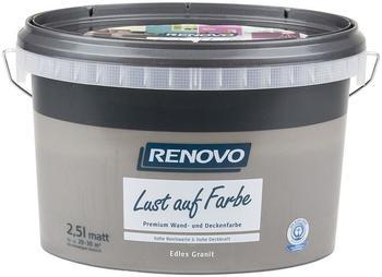 Renovo Trendfarbe Lust auf Farbe Edles Granit 25 l grau