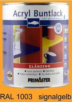 PRIMASTER Acryl Buntlack signalgelb glänzend 375 ml