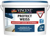Vincent Protect Weiss Resistent gegen Schimmel 2,5 l