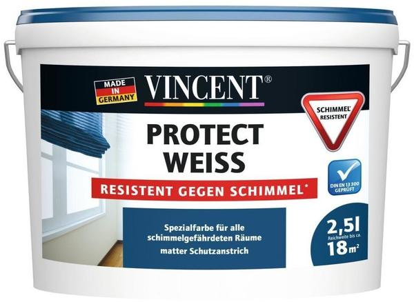 vincent protect weiss resistent gegen schimmel 2 5 l test. Black Bedroom Furniture Sets. Home Design Ideas