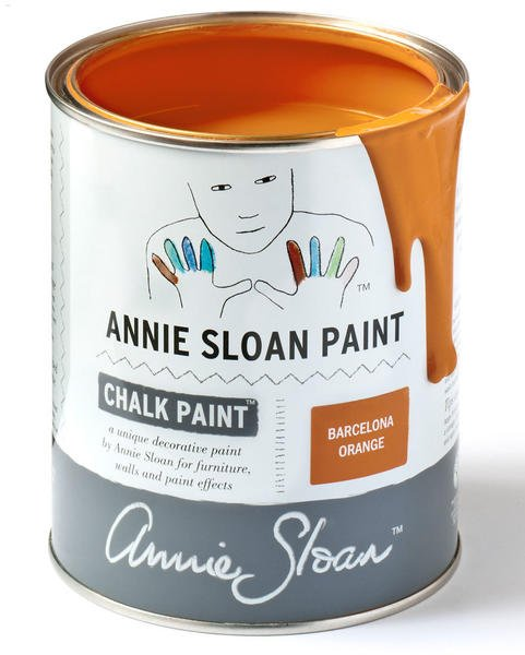 annie sloan paint chalk paint barcelona orange test. Black Bedroom Furniture Sets. Home Design Ideas