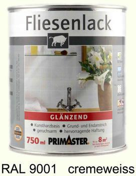 PRIMASTER Fliesenlack Cremeweiss Glänzend (750 ml)