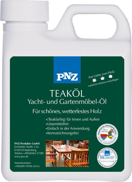 PNZ Teak-Öl: teakfarben - 1 Liter