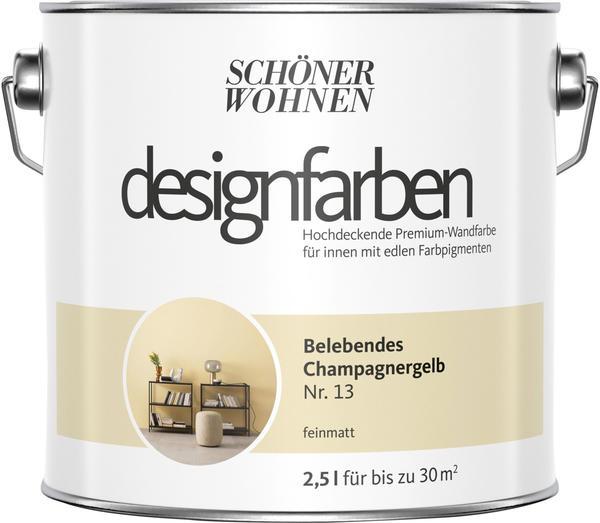 Schöner Wohnen Designfarbe 2,5 l Belebendes Champagnergelb feinmatt