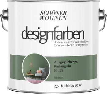 Schöner Wohnen Designfarbe 2,5 l Ausgeglichenes Piniengrün feinmatt