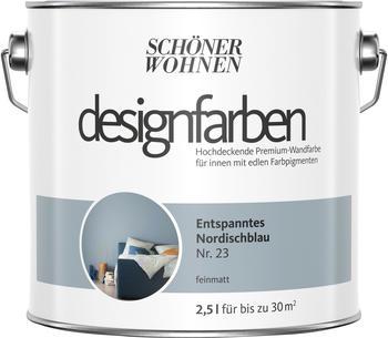 Schöner Wohnen Designfarbe 2,5 l Entspanntes Nordischblau feinmatt
