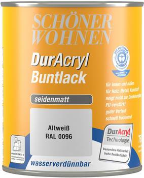 Schöner Wohnen DurAcryl Buntlack seidenmatt 750 ml Altweiss