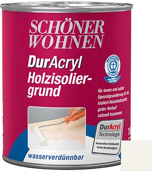 Schöner Wohnen DurAcryl Holzisoliergrund Weiß 750 ml