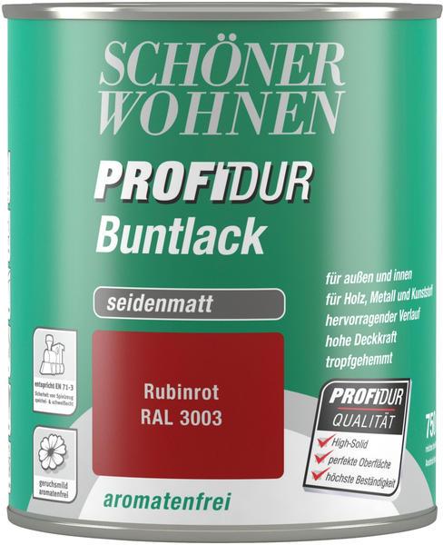 Schöner Wohnen ProfiDur Buntlack seidenmatt 750 ml rubinrot