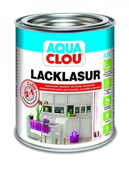 CLOU AQUA COMBI Lack-Lasur 750 ml farblos