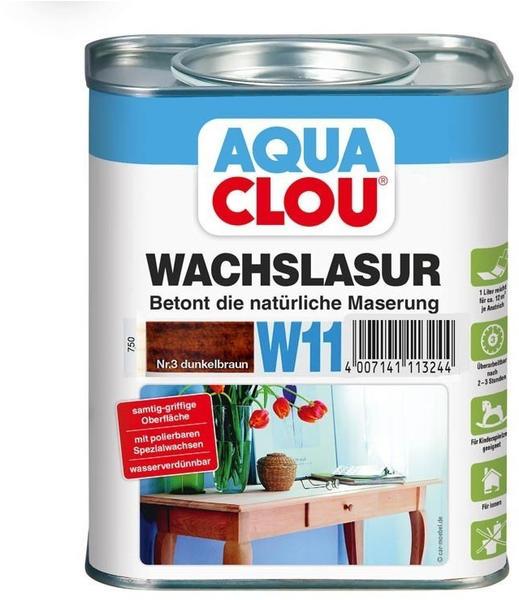 AQUA CLOU Wachslasur dunkelbraun 0,75 l