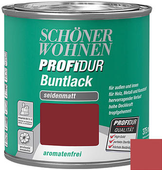 Schöner Wohnen ProfiDur Buntlack 0.375 l seidenmatt Rubinrot