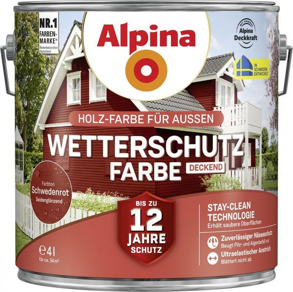 Alpina Wetterschutzfarbe deckend 4 l schwedenrot