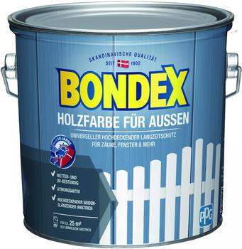 Bondex Holzfarbe für Aussen 2,5 l weiss