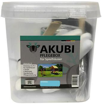 Akubi Pflegebox für Spielhäuser 750 ml Karibikblau