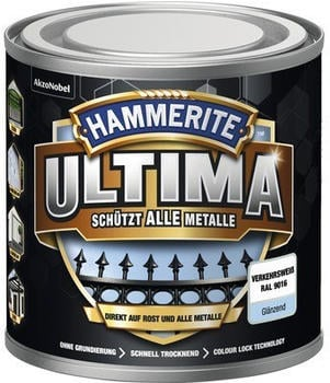 Hammerite Ultima 250 ml verkehrsweiß glänzend
