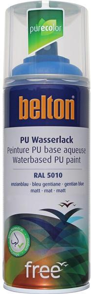 belton free PU Wasserlack 400 ml Enzianblau matt