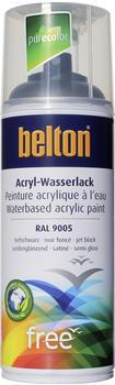 belton-free-pu-wasserlack-400-ml-tiefschwarz-seidenglaenzend