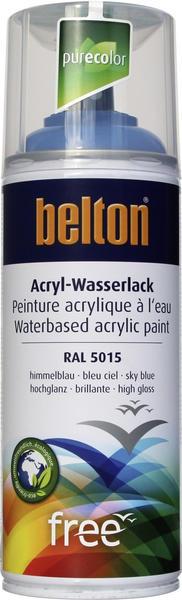 belton free PU Wasserlack 400 ml Himmelblau hochglänzend