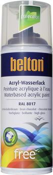 belton free PU Wasserlack 400 ml Schokobraun hochglänzend