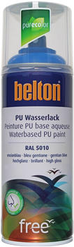 belton free PU Wasserlack 400 ml Enzianblau hochglänzend