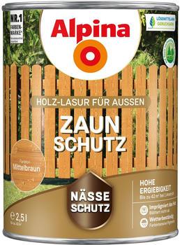 Alpina Zaun-Schutz 2,5 l mittelbraun